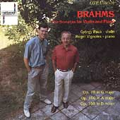 Brahms: The Sonatas for Violin and Piano / Pauk, Vignoles
