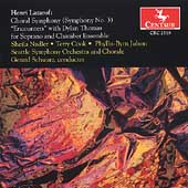 Lazarof: Choral Symphony no 3, etc / Schwartz, Seattle SO