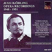 Jussi Bj&#246;rling - Opera Recordings 1948-1951