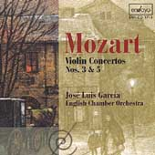 Mozart: Violin Concertos no 3 & 5 / J.L. Garcia, English CO