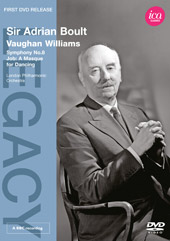 Vaughan Williams: Symphony No. 8; Job / Adrian Boult, London PO [DVD]