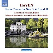 Haydn: Piano Concertos no 3, 4, 9 and 11 / Knauer, Cologne Chamber Orchestra
