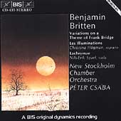 Britten: Les Illuminations, Lachrymae, etc / Csaba