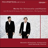Works for cello & piano by R. Strauss, Poulenc and Rihm / Benedict Kloeckner, cello; José Gallardo, piano