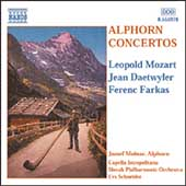 L. Mozart, Daetwyler, Farkas: Alphorn Concertos / Molnar
