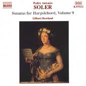 Soler: Sonatas for Harpsichord Vol 9 / Gilbert Rowland