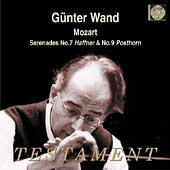 Mozart: Serenades no 7 & 9 / Günter Wand, et al