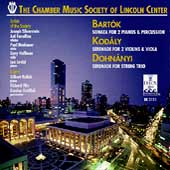 Bartók, et al / The Chamber Music Society of Lincoln Center