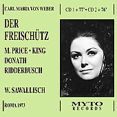 Weber: Der Freisch&#252;tz / Sawallisch, Price, King, et al