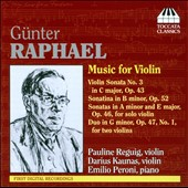 G&uuml;nter Raphael: Music for Violin
