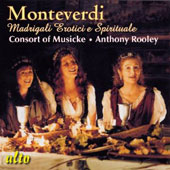 Monteverdi: Madrigali erotici e spirituali / Emma Kirkby and Evelyn Tubb - Anthony Rooley