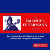 The Emanuel Feuermann Edition: The Complete English Columbia Recordings, Early German Parlophone Rec