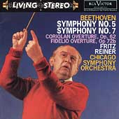 Beethoven: Symphonies no 5 and 7, etc / Reiner, Chicago SO