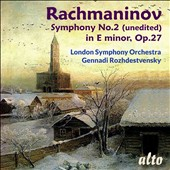 Rachmaninov: Symphony No. 2 (unedited) in E minor, Op. 27 / London SO, Gennadi Rozhdestvensky