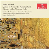 Franz Schmidt (1874-1939): Quintet in A major / Kae Hosoda-Ayer, piano; Christopher Ayer, clarinet; Jennifer Dalmas, violin; Kathryn Steely, viola; Evgeni Raychev, cello