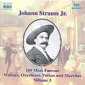 J. Strauss Jr.: 100 Most Famous Waltzes Vol 3