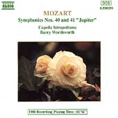 Mozart: Symphonies nos 40 & 41 / Barry Wordsworth
