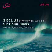 Sibelius: Symphonies no 5 & 6 / Colin Davis, London SO