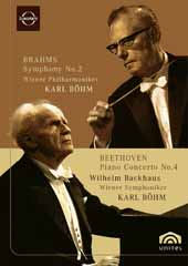 Wilhelm Backhaus plays Beethoven: Piano Concerto No. 4 / Bohm/Vienna SO +Brahms: Sym. No. 2 [DVD]