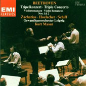 Beethoven: Triple Concerto, Violin Romances / Zacharias