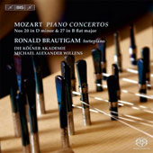 Mozart: Piano Concertos No. 20 in D minor & No. 27 in B flat major / Ronald Brautigam, fortepiano