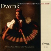 Dvorak: 16 Slavonic Dances for Piano Four Hands / David Allen Wehr & Cynthia Raim, pianists