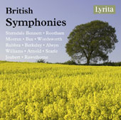 British Symphonies - Works by Alwyn, Arnold, Bax, Bennett, Berkeley, Jouybert, Serle and more / Various artists [4 CDs]