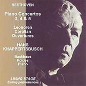 Beethoven: Piano Concertos no 3, 4 & 5 / Backhaus, Foldes