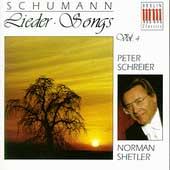 Schumann: Songs Vol 4 / Peter Schreier, Norman Shetler