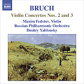 Bruch: Violin Concertos no 2 & 3 / Fedotov, Yablonsky, et al