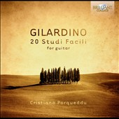 Angelo Gilardino: 20 Studi Facili for guitar / Cristiano Porqueddu, guitar