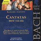 Edition Bachakademie Vol 36 - Cantatas BWV 112-114 / Rilling
