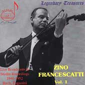 Legendary Treasures - Zino Francescatti Vol 1