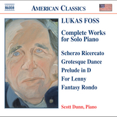 American Classics - Foss Complete Works for Solo Piano