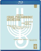 Zubin Mehta conducts the Israel Philharmonic - Beethoven: Symphony no 8; Saint-Saens: Introduction & Rondo Capriccioso, Op. 28; Chausson: Poeme, Op. 25; Chopin: Piano Concerto no 1 / Julian Rachlin; Evgeny Kissin, Vadim Repin [Blu-Ray]