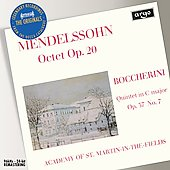 Mendelssohn: Octet;  Boccerini: Quintet / Marriner, et al