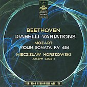 Beethoven: Diabelli Variations, Op. 120; Mozart: Sonata for Violin & Piano, KV 454