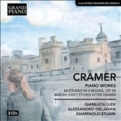 Johann Baptist Cramer: Piano Works - 84 Etudes; Eight Etudes after Cramer / Gianluca Luisi, piano