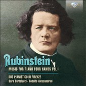 Anton Rubinstein (1829-1894): Music for Piano Four Hands, Vol. 1 - Sonata Op. 89; Characteristic Pieces, Opp. 9 & 50 / Sara Bartolucci, Rodolfo Alessandrini, piano 4 hands