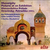 Mussorgsky: Pictures at an Exhibition; Khovanshchina Prelude; Stravinsky: Petrushka (1911) / Charles Mackerras, London SO; New Philharmonia Orch.