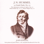 Johann Nepomuk Hummel: Piano Music / John Khouri