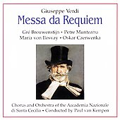 Verdi: Requiem / Van Kempen, Brouwenstijn, et al