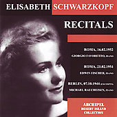 Recitals - Schubert, Brahms, etc / Schwarzkopf, et al