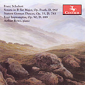 Schubert: Sonata in B flat major D 960, etc / Arthur Rowe