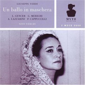 Verdi: Un ballo in maschera / Verchi, Merighi, Cappuccilli, Gerncer, Lazzarini, et al