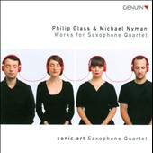 Philip Glass & Michael Nyman: Works for Saxophone Quartet / sonic.art