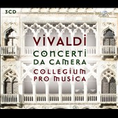 Vivaldi: Complete Chamber Concertos / Stefano Bagliano, recorder; Collegium Pro Musica