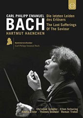C.P.E. Bach: The Last Sufferings Of The Saviour / Thomas Dewald, Christine Schäfer, Ellen Schuring, Raphael Alpermann, Roman Treke (live, 1994) [DVD]
