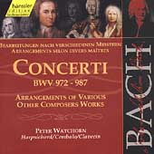 Edition Bachakademie Vol 111 -Concerti BWV 972-987 /Watchorn