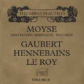 Great Flautists Vol 2 - Moyse, Gaubert, Hennebains, Le Roy